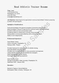 Training Resume Format Sports Resume Template