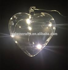 heart shaped christmas lights battery operated glass heart shaped led christmas lights led glass
