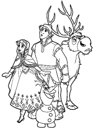 olaf and friends coloring pages coloringstar