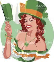 st patricks leprechaun woman stock vector art 466786969 istock