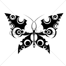 butterfly black ink design
