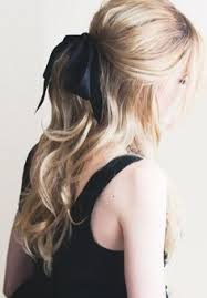 ribbon ponytail átate el pelo diferentes peinados ponytail hair bow and pony