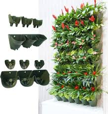 self watering vertical wall mounted planter flower pot one planter