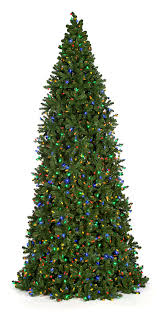 12 ft 14 ft and 16 ft slim frame trees with multi colored