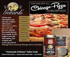 chicago food gifts gebardi chicago pizza kit subscription gift gebardifoods