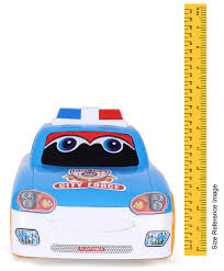 luvely police car toy blue