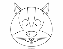 printable squirrel mask to color day camp crafts pinterest