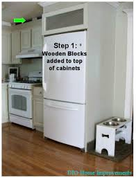 Kitchen Cabinet Refrigerator Diy Kitchen Cabinets Less Than 250 Dio Home Improvements
