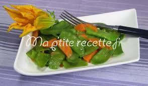cuisiner des pois mange tout pois mange tout aux carottes recette accompagnement petits pois