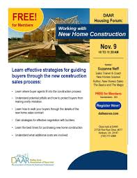 New Home Construction Steps Join Us Daar Housing Forum Working With New Construction