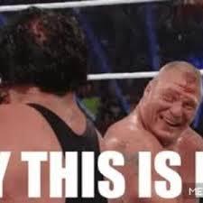 Brock Lesnar Meme - undertaker vs brock lesnar in a nutshell by atef meme center