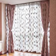 216 Inch Curtains Polyester And Cotton Jacquard Oriental Window Curtains