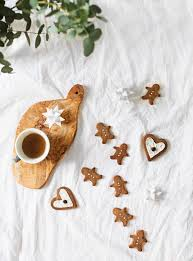 paleo chestnut flour gingerbread biscuits christmas sweet treats