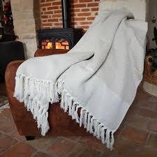 plaid coton pour canapé grands plaids coton et bambou 150x250 artizana hd