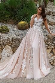 pink embroidered wedding dress blush wedding gowns 2017 creative wedding ideas magazine com