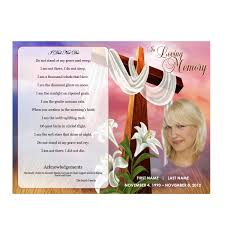 floral cross funeral pamphlets