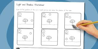 light and shadows lesson plans and shadow worksheet australia light shadow worksheet