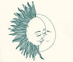 half moon half sun meaning of the rising sun