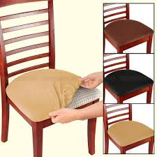 dining chair seat covers 2 4 6 pcs removable elastic stretch slipcovers dining spandex