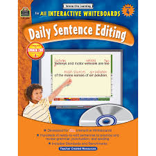 interactive learning daily sentence editing grade 4 tcr3886