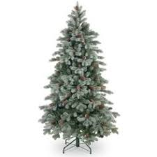 4ft snowy imperial blue spruce potted feel real artificial