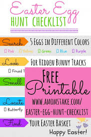 easter egg hunt ideas printable easter egg hunt checklist a mom u0027s take