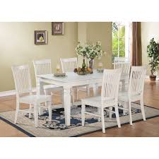 east west furniture west7 whi w weston 7 piece white dining set