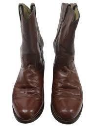 80 u0027s justin shoes 80s justin mens brown smooth leather western