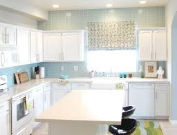 white cabinet and frosted cabinet doors kitchen backsplash ideas