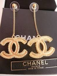 earring dangles auth chanel large airplane pearl cc logo limited runway dangle