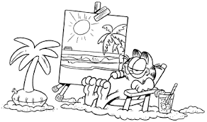 garfield coloring pages bestofcoloring com