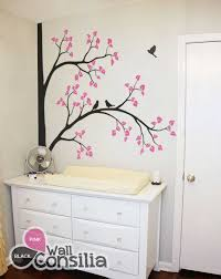 Nursery Wall Tree Decals Nursery Corner Tree Decal With Birds Room Decalwallconsilia