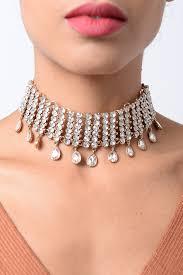neck choker necklace images Stylish gold crystal diamond choker necklace diamond choker choker jpg