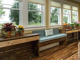 L Shaped Bench Seating Inbuilt Window Benches By Sagemodern View In Gallery Kitchen