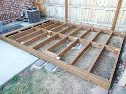 how to build a deck frame deck diy steel frame deck how to build