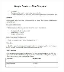 easy business plan template business plan template free simple for