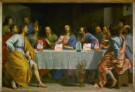 michelangelo last supper the actual painting of the last supper by michelangelo