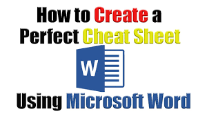 How To Create A Spreadsheet In Word Download Mp3 Tutorial How To Create The Perfect Cheat Sheet