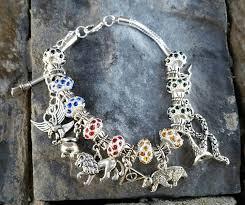 hogwarts inspired european style house charm bracelet