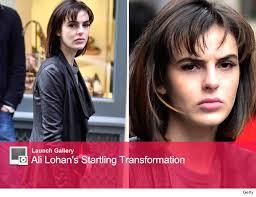 Image Gallery Lindsay Jones Lenny - ali lohan chops off her hair toofab com