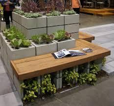 Decorative Cinder Blocks Decor Simple Decorative Cinder Blocks For Garden Bench Idea