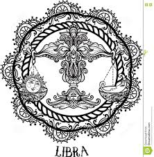 detailed libra in aztec style stock illustration image 76685131