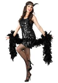 Halloween Looks For Women Black Tear Drop Flapper Costume For Women