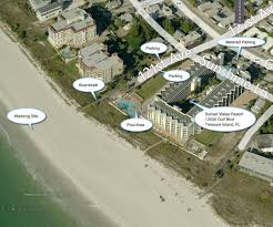 Map Of Treasure Island Florida by Sunset Vista Condo Hotel Resort Beach Weddings