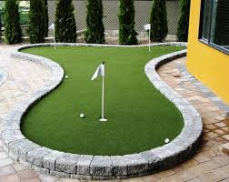 diy backyard putting and chipping green image with amazing diy