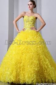 best quinceanera dresses yellow sweetheart ruffled best quinceanera dress in the world 1st