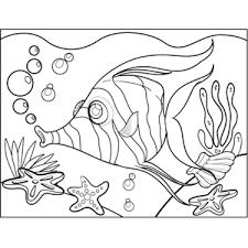 zebra fish blowing bubbles coloring