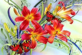 flowers beautiful creative waltz four lovely drawings