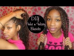 wet and wavy african hair braiding synthetic braids to wet wavy youtube