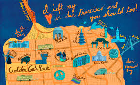 Union Square San Francisco Map by 21 Gorgeous Illustrated Maps Of San Francisco Upout Blogupout Blog